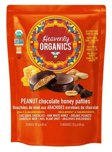 Picture of Heavenly Organics Heavenly Organics Honey Patties, Peanut Chocolate 132g