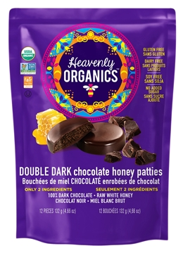 Picture of  Heavenly Organics Honey Patties, Double Dark Chocolate 132g