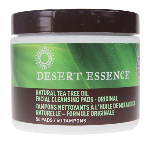 Picture of Desert Essence Desert Essence Natural Cleansing Pads With Tea Tree Oil, 50 Pads