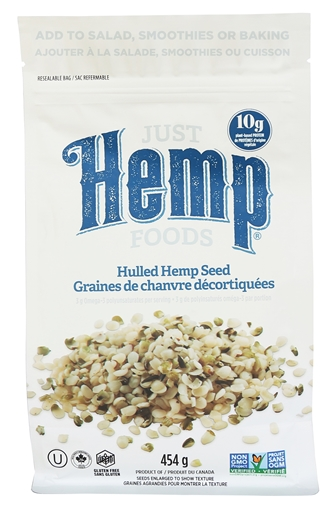 Picture of Just Hemp Foods Hulled Hemp Seeds, 454g