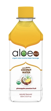 Picture of Lily Of The Desert Lily of the Desert Aloe H2O with Coconut, Passion Fruit, 500ml