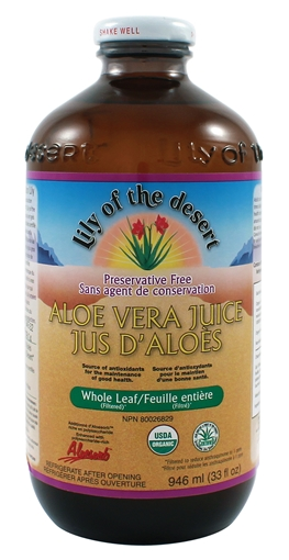 Picture of Lily Of The Desert Lily of the Desert Aloe Vera Juice Whole Leaf, Glass 946ml