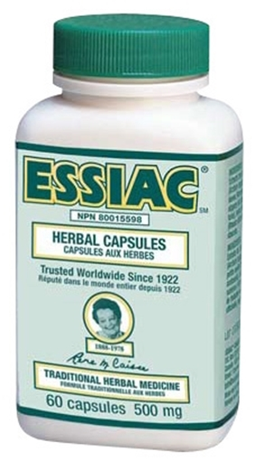 Picture of Essiac Herbal Capsules 500mg, 60 Veggie Capsules