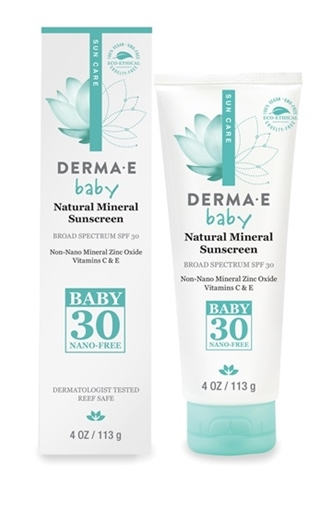 Picture of DERMA E Derma E Natural Mineral Baby Sunscreen SPF30, 113g