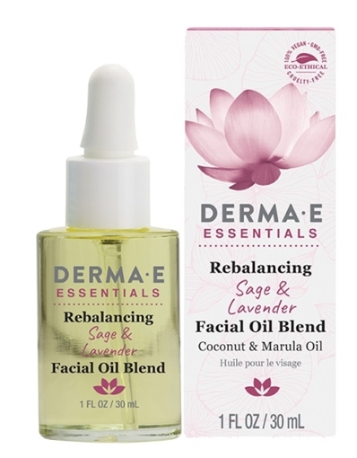 Picture of DERMA E Rejuvenating Sage & Lavender Face Oil, 30ml