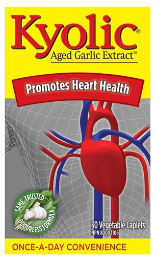 Picture of Kyolic® Aged Garlic Extract Once-A-Day, 30 Vegetable Caplets