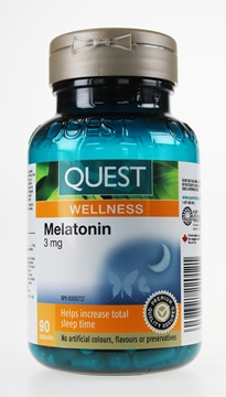 Picture of Quest - The Quest for Health Melatonin 3 mg, 90 Capsules