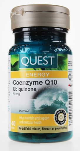 Picture of Quest Quest Coenzyme Q10 Ubiquinone 50 mg, 40 Tablets