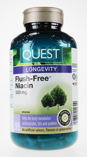 Picture of Quest Quest Flush-Free Niacin 500 mg, 120 Capsules