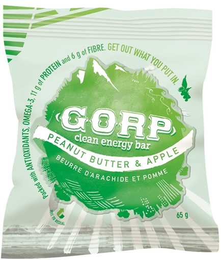 Picture of GORP Clean Energy Bars Peanut Butter & Apple 12x65g