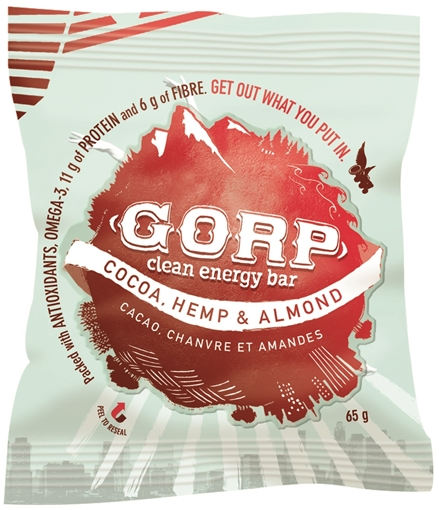 Picture of GORP Clean Energy Bars Cocoa, Hemp & Almond 12x65g