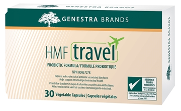 Picture of  HMF Travel Probiotic, 30 Vegetable Capsules