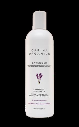 Picture of Carina Organics Carina Organics Shampoo & Body Wash, Lavender 360ml