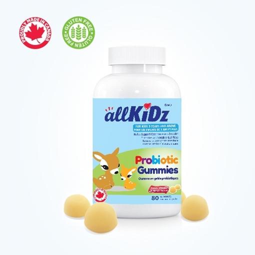 Picture of Allkidz Naturals Inc. AllKidz Naturals Probiotic Gummies, 80 Count