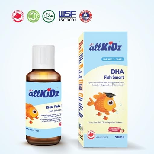 Picture of Allkidz Naturals Inc. AllKidz Naturals DHA Fish Smart, 90ml
