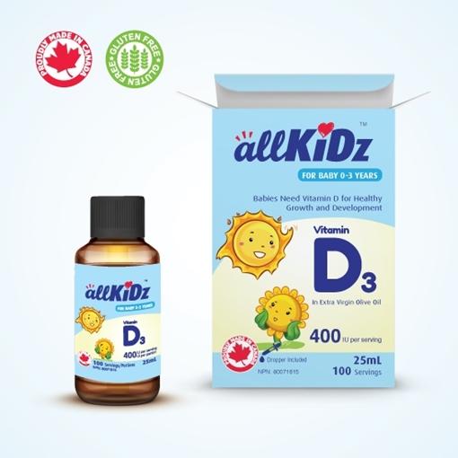 Picture of Allkidz Naturals Inc. AllKidz Naturals Vitamin D3 Drops (For Babies), 25ml