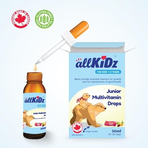 Picture of Allkidz Naturals Inc. AllKidz Naturals Junior Multivitamin Drops, 50ml