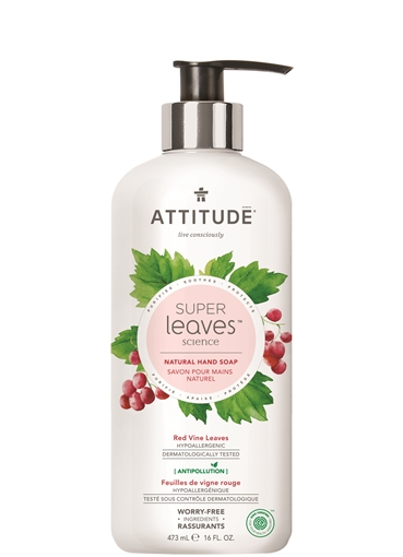 Picture of Attitude ATTITUDE Super Leaves Red Vines Leaves Hand Soap, 473ml