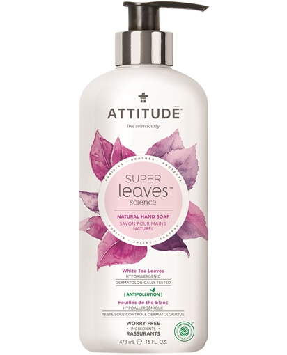 Picture of Attitude ATTITUDE Super Leaves White Tea Leaves Hand Soap, 473ml