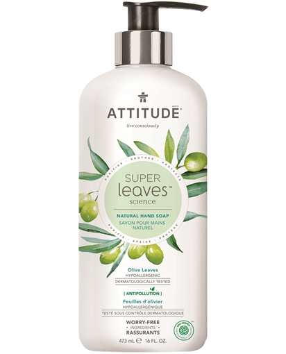 Picture of Attitude ATTITUDE Super Leaves Hand Soap, Olive Leaves  473ml