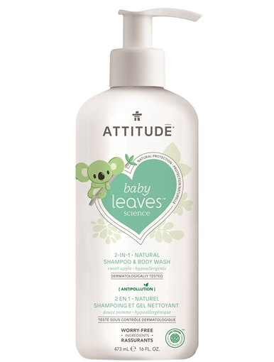 Picture of Attitude ATTITUDE Baby 2-in-1 Shampoo & Body Wash, Sweet Apple 473ml