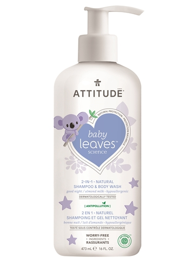 Picture of Attitude ATTITUDE Baby 2-in-1 Almond Milk Shampoo & Body Wash, 473ml
