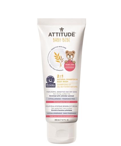 Picture of Attitude ATTITUDE Baby 2-in-1 Natural Shampoo & Body Wash, 200ml