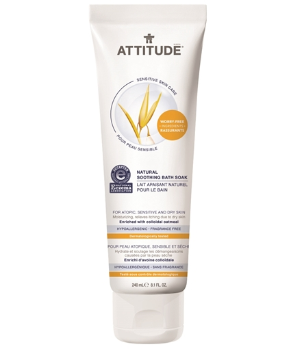 Picture of Attitude ATTITUDE Natural Soothing Bath Soak, Fragrance Free 240ml