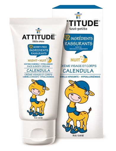 Picture of Attitude ATTITUDE Little Ones Face & Body Calendula Night Cream, 75g