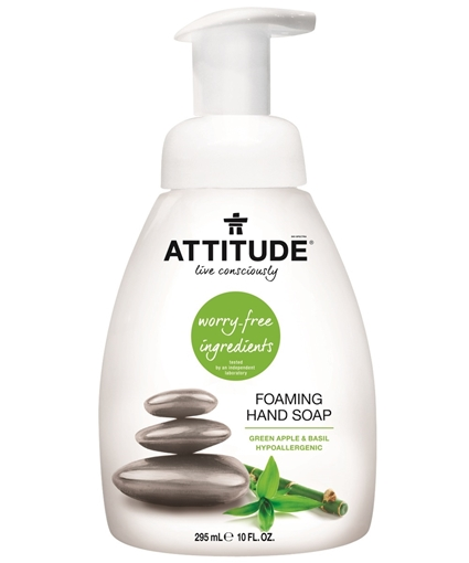 Picture of Attitude ATTITUDE Foaming Hand Soap, Green Apple & Basil 295ml