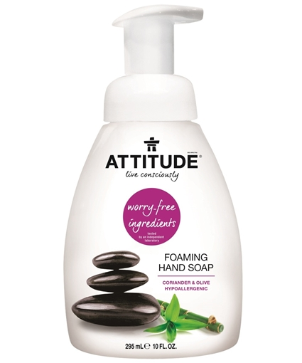 Picture of Attitude ATTITUDE Foaming Hand Soap, Coriander & Olive 295ml