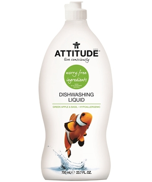 Picture of  ATTITUDE Dishwashing Liquid, Green Apple & Basil 700ml