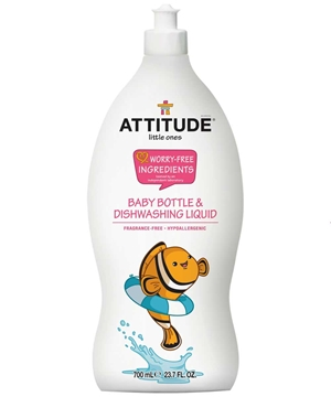 Picture of  ATTITUDE Baby Dishwashing Liquid, Fragrance Free 700ml