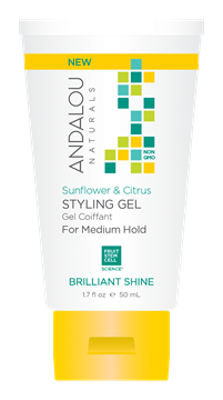Picture of  Andalou Naturals Sunflower Citrus Brilliant Shine Travel Styling Gel, 50ml