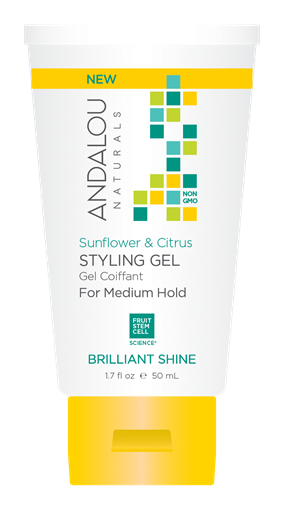 Picture of Andalou Naturals Andalou Naturals Sunflower Citrus Brilliant Shine Travel Styling Gel, 50ml