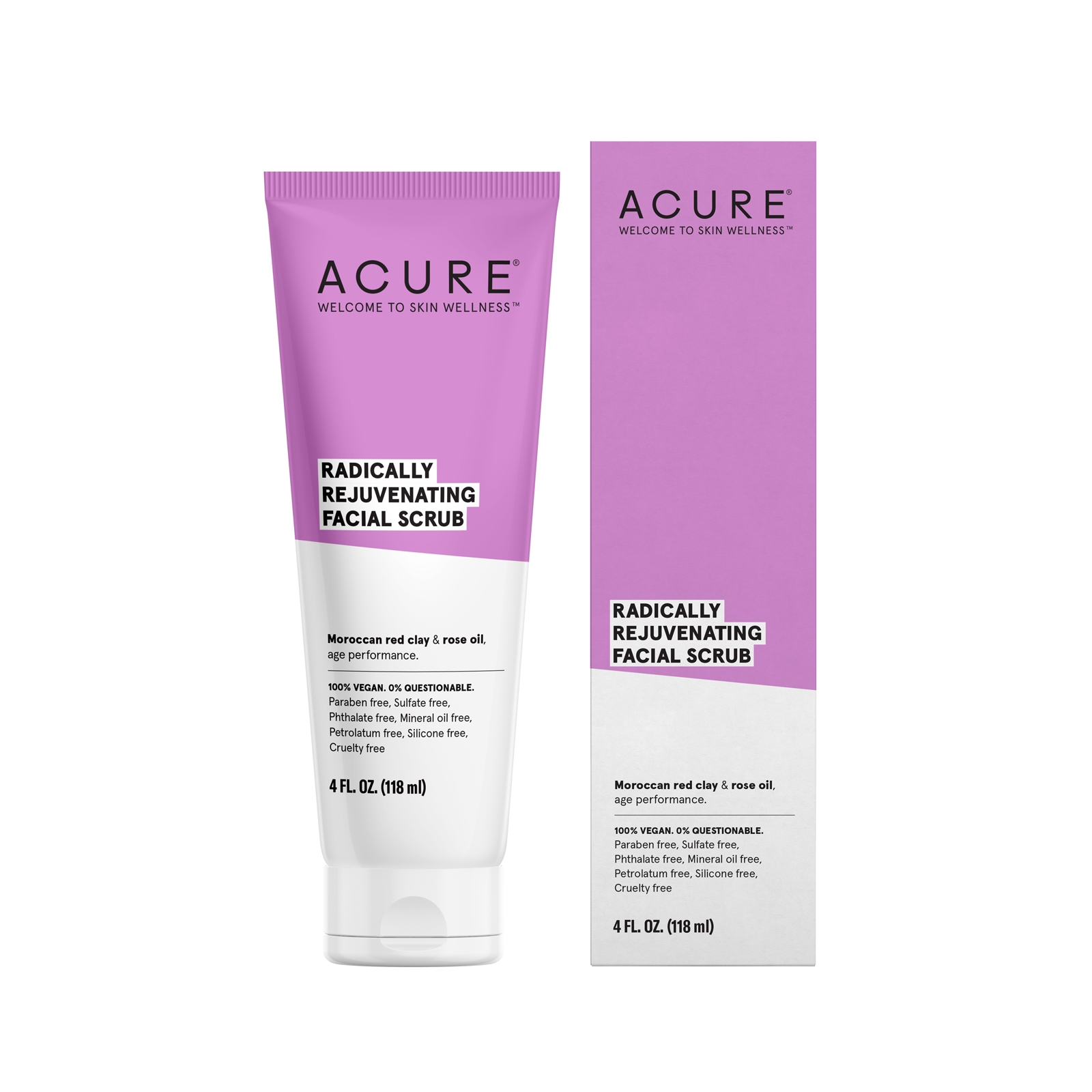 Acure Radically Rejuvenating Facial Scrub, 118ml