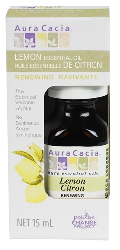 Picture of Aura Cacia Aura Cacia Lemon Essential Oil (Boxed), 15ml