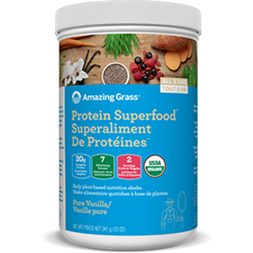 Picture of Amazing Grass Protein Superfood, Pure Vanilla 341g