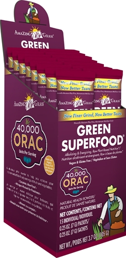 Picture of Amazing Grass Green SuperFood, Sweet Berry 15x7g