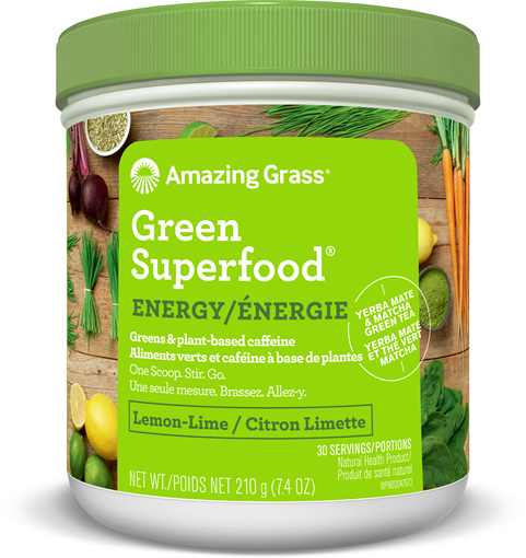 Picture of Amazing Grass Green SuperFood, Energy Lemon Lime 210g
