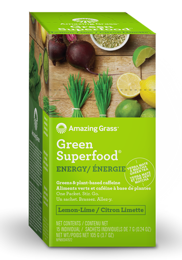 Picture of Amazing Grass Green SuperFood, Energy Lemon Lime 15x7g