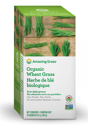 Picture of Amazing Grass Organic Wheat Grass, 15x8g