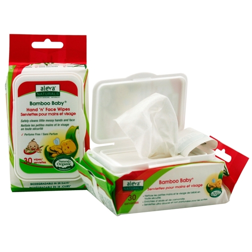 Picture of Aleva Naturals Aleva Naturals Bamboo Baby Hand & Face Wipes