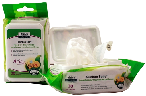 Picture of Aleva Naturals Aleva Naturals Bamboo Baby Nose n  Blows Wipes, 30 pk