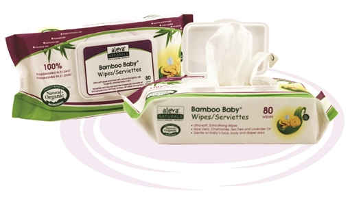 Picture of Aleva Naturals Aleva Naturals Bamboo Baby Wipes, 80 Count