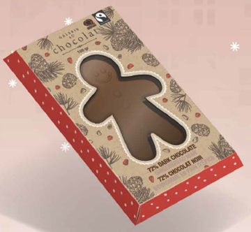 Picture of  Galerie au Chocolat Fairtrade Milk Chocolate Gingerbread, 80g