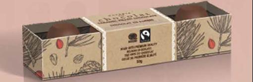 Picture of Galerie au Chocolat Galerie au Chocolat Fairtrade Snowmen 3-Pack, 50g