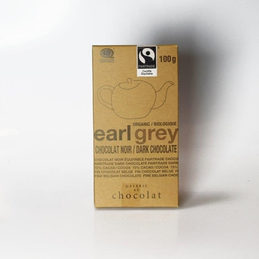 Picture of Galerie au Chocolat Galerie au Chocolat Fairtrade Dark Chocolate Earl Grey Bar, 100g