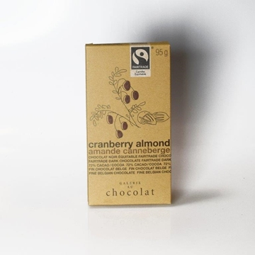 Picture of  Fairtrade Dark Chocolate Almond Cranberry Bar, 8x100g