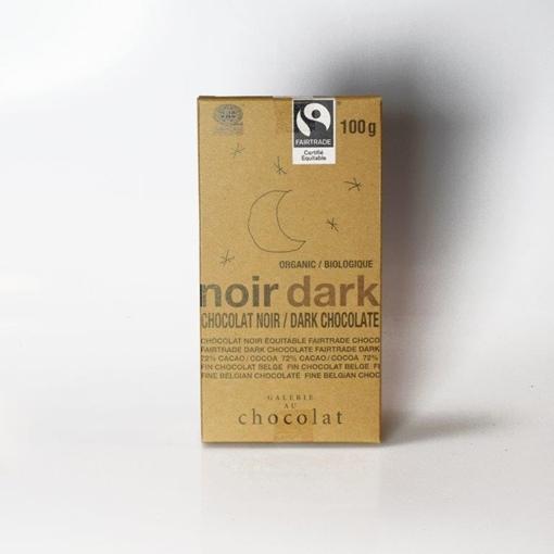 Picture of Galerie au Chocolat Fairtrade 72% Dark Chocolate Bar, 8x100g